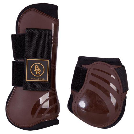 BR Set di cinghie per stivali da equitazione con tendine e cinghie per stivali da equitazione con paranocche Pro Tech