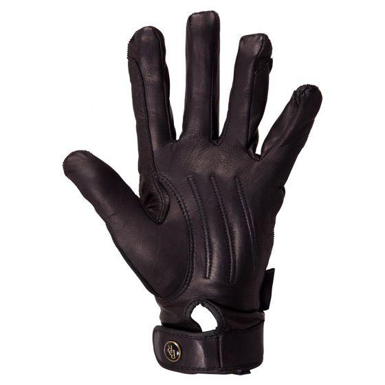 BR Guanti da equitazione Comfort Pro Spandex top in pelle palm