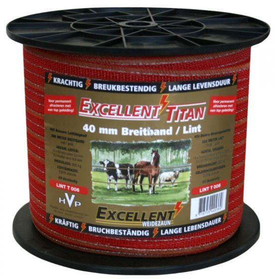Hofman Nastro Excellent Titanium 200 m / 40 mm Rosso / Oro
