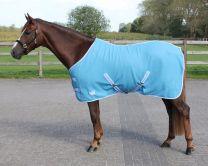QHP  Fleece Rug color with cross surcingles Sky 145