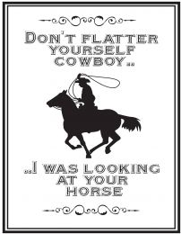 QHP Segno di Testo 'Cowboy'