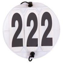 Numeri di partenza Bianco tondo