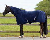 QHP Coperta basic in lana con scollatura & cinghie.