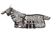 Coperta antimosche fantasia zebrata con copricollo e maschera MHS