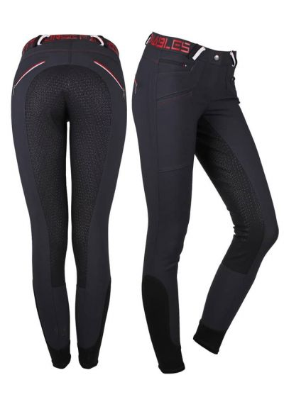 QHP Pantaloni da Equitazione Lisa Sedile antiscivolo