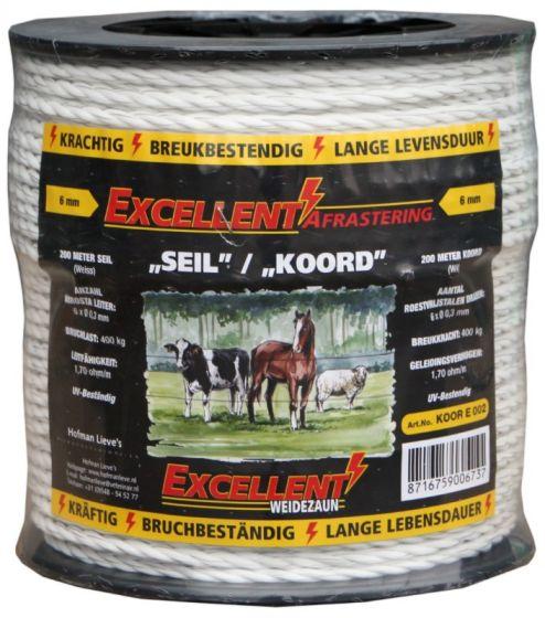 Hofman Cord Excellent Eco 200 m - 6 mm white Black