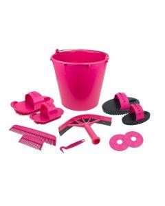 Hofman polacco set di 10 articoli in rosa secchio