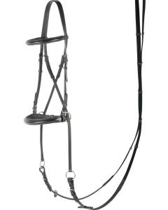 Harry's Horse Bridle Bitless Jaw croci, nere
