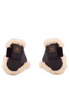 BR Cinghie per stivali da equitazione con paranocche Snuggle imitazione pelle di pecora
