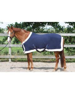 Harry's Horse Coperta in pile modello State con patta sul petto