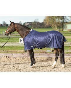 Harry's Horse Flysheet mesh standard con cinghie, blu scuro