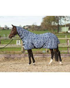 Harry's Horse Doppio tetto in rete con collo e fettuccia, zebra medievale blu