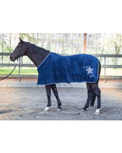 Coperta in pile fantasia mimetica Loulou Ensign Blue di Harry's Horse