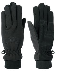 Harry's Horse Gloves in pile traspirante / impermeabile nero