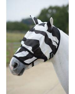 Bucas Maschera antimosche zebra con naso Buzz-Off