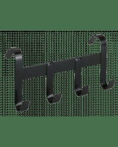 Hofman Porta cavezza in metallo con 4 ganci di sospensione nero