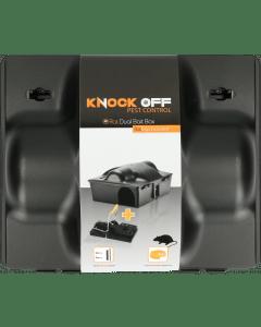 Knock Off Feed Box Ratto / Mouse Doppia esca incl. Pinza per ratti