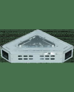 Hofman Trappola per topi Catch-A-Mouse con coperchio trasparente Modello ad angolo