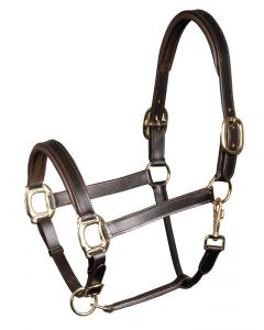 Harry's Horse Halter in pelle, bridoonded