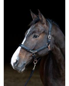 Harry's Horse Cavezza anatomica in pelle Rosegold