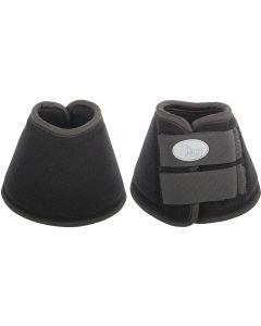 Harry's Horse Cinghie per stivali da equitazione campana in neoprene spazzolato nero
