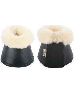 Harry's Horse Cinghie per stivali da equitazione campana in neoprene / merino nero