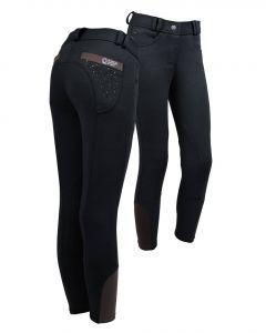 QHP Pantaloni da equitazione Junior Pearl Black 140