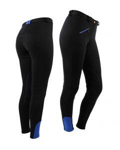 QHP Pantaloni da equitazione Adulto Nero 42