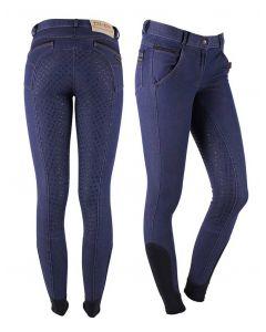 QHP Pantaloni da Equitazione in pelle Antitraccia Modello