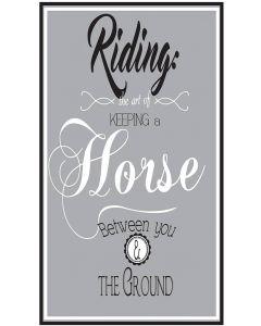 QHP Segno di Testo 'Riding ...'