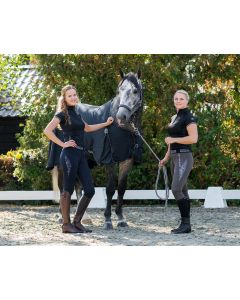 QHP Pantaloni da equitazione pull-on Ella sedile intero antiscivolo Grigio 34