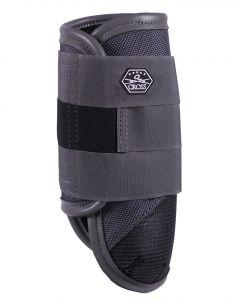 QHP Eventing equitazione cinghie stivali anteriori tecnici