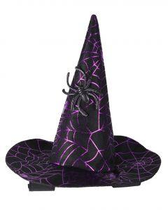 QHP Cappello da strega Halloween cavallo Ragno
