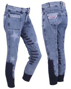 QHP Pantaloni da equitazione Rosanne Junior gamba grip