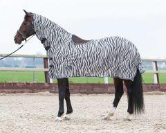 Harry's Horse Telo trapuntato a rete, scollo e sella, grigio zebrato