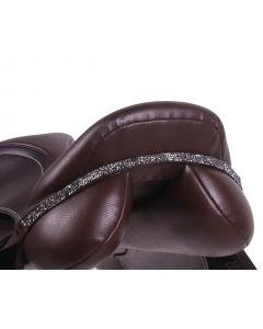 QHP Saddleboard Lupin Black / silver
