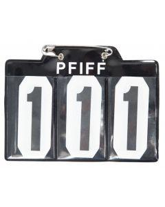 PFIFF Numero di partenza per schabrak