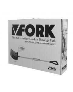 Hofman Vplast Forca per letame in plastica con manico in alluminio in scatola