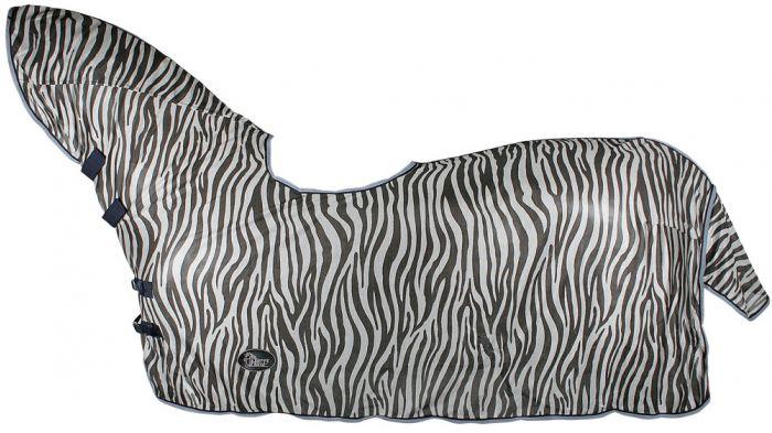 Harry's Horse Rete doppio tetto, incavo per collo e sella, grigio zebra