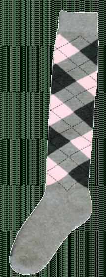 Excellent Calzini al ginocchio RE grigio chiaro / grigio scuro / rosa 43-46