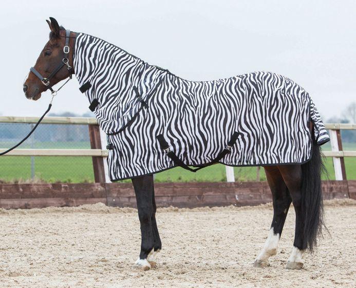 Harry's Horse Doppio tetto con collo ampio, zebrato